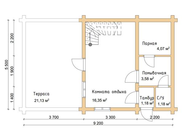 Дома, бани, из оцилиндрованного бревна 111 Информация об акции