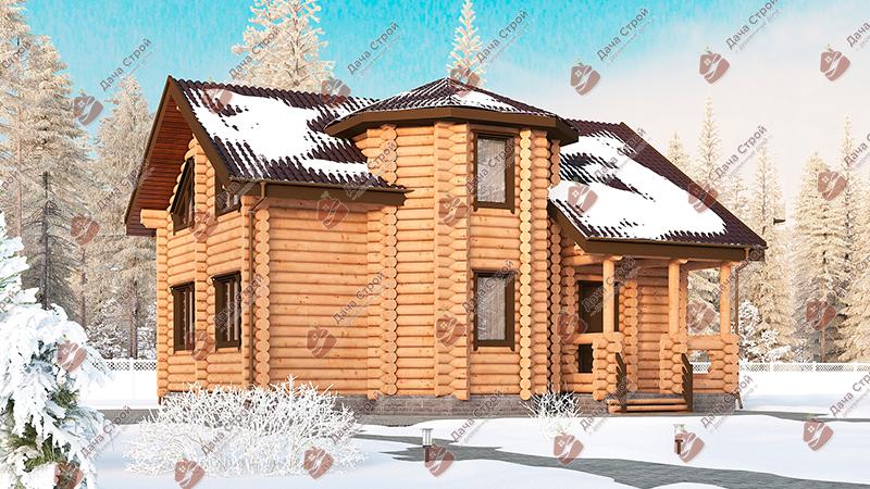 Дом из бревна «Комфорт — 158»