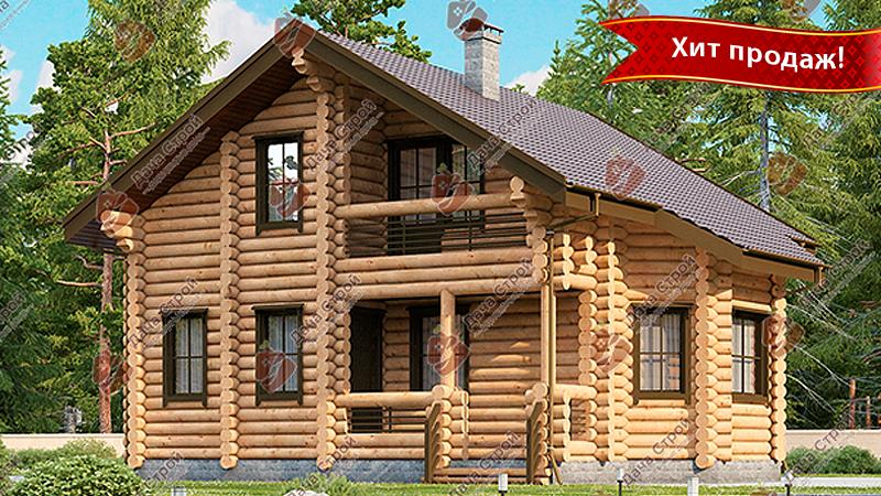 Дом из бревна «Комфорт — 165»