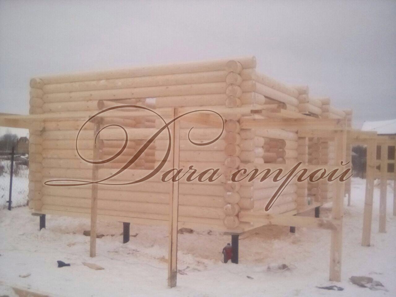 Фото отчёт начало строительства индивидуальной бани