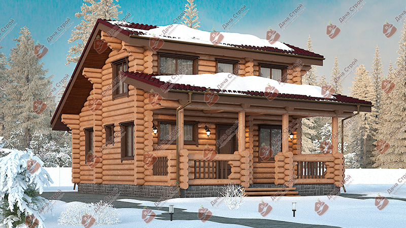 Дом из бревна «Комфорт — 108»