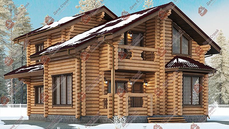 Дом из бревна «Элитный — 275»