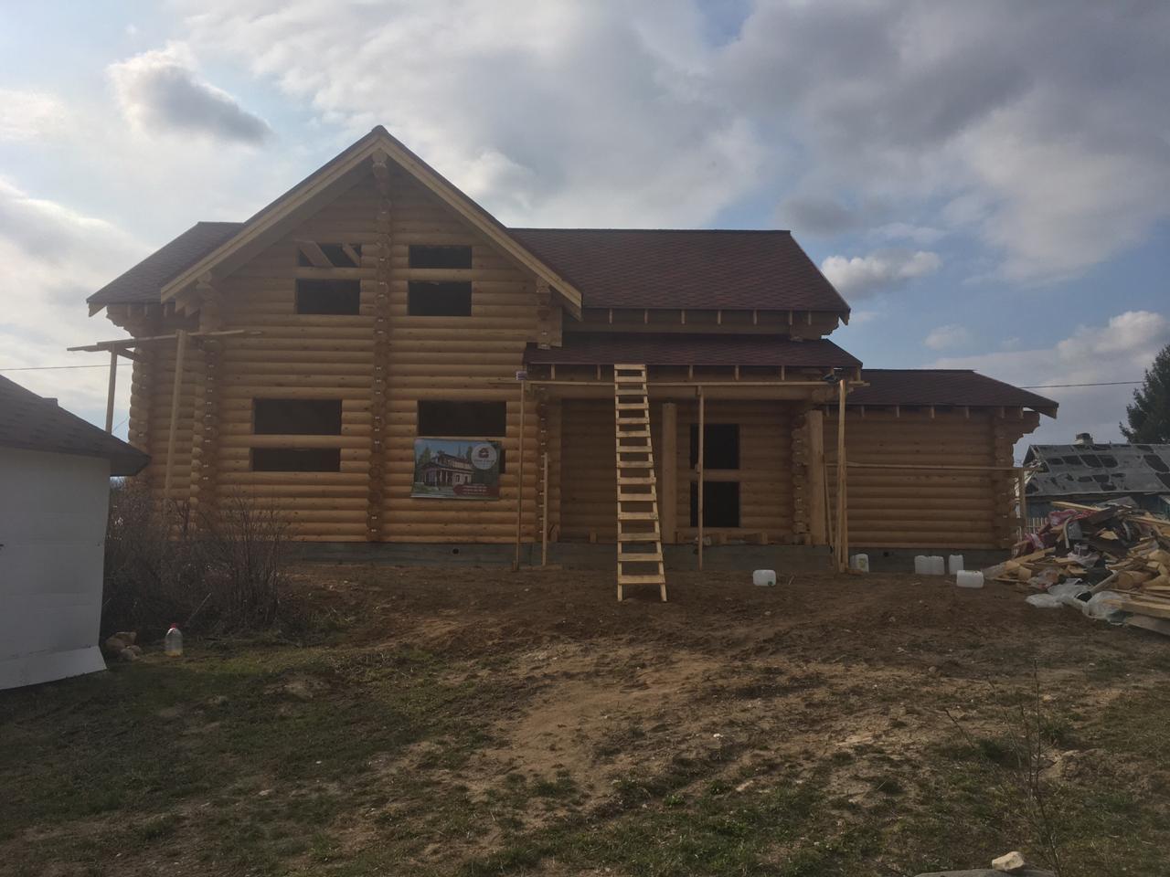 Дом из бревна  d260